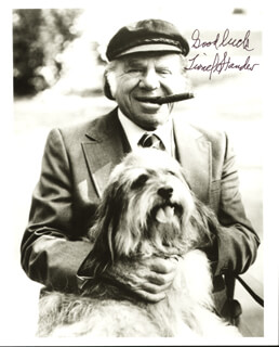LIONEL STANDER - AUTOGRAPHED SIGNED PHOTOGRAPH