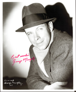 GEORGE MURPHY - AUTOGRAPHED SIGNED PHOTOGRAPH