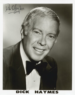 DICK HAYMES - AUTOGRAPHED SIGNED PHOTOGRAPH