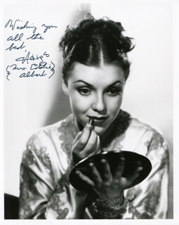 MARGO (MARGO ALBERT) - AUTOGRAPHED SIGNED PHOTOGRAPH