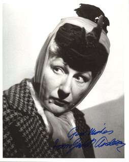 DAME JUDITH ANDERSON - AUTOGRAPHED SIGNED PHOTOGRAPH
