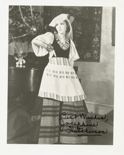 JOSEPHINE HUTCHINSON - AUTOGRAPHED SIGNED PHOTOGRAPH