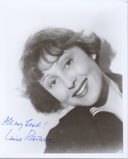 LUISE RAINER - AUTOGRAPHED SIGNED PHOTOGRAPH