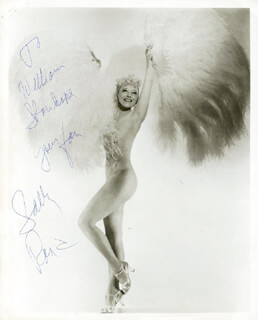 SALLY RAND - AUTOGRAPHED INSCRIBED PHOTOGRAPH