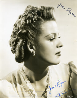 JEAN ROGERS - AUTOGRAPHED SIGNED PHOTOGRAPH