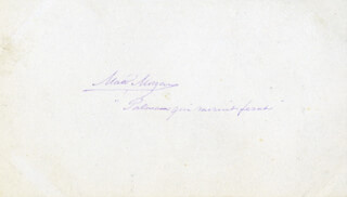 MATTHEW SOMERVILLE MORGAN - AUTOGRAPH QUOTATION SIGNED