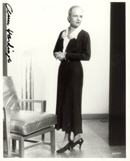 ANN HARDING - AUTOGRAPHED SIGNED PHOTOGRAPH