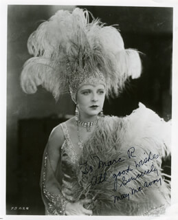 MAY McAVOY - AUTOGRAPHED INSCRIBED PHOTOGRAPH