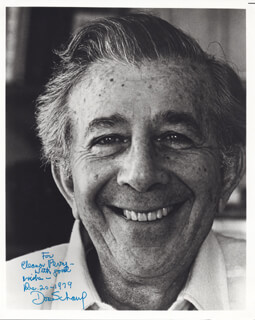 DORE SCHARY - AUTOGRAPHED INSCRIBED PHOTOGRAPH 12/20/1979