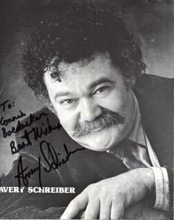 AVERY SCHREIBER - AUTOGRAPHED INSCRIBED PHOTOGRAPH