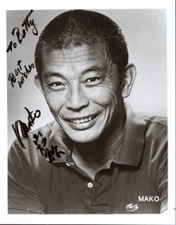 MAKO - INSCRIBED PHOTOGRAPH SIGNED TWICE