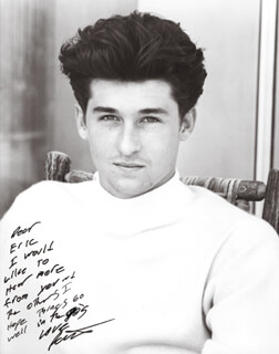 PATRICK DEMPSEY - AUTOGRAPHED INSCRIBED PHOTOGRAPH