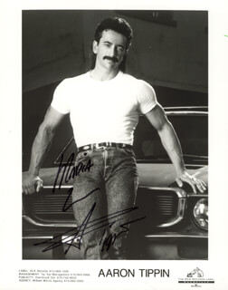 AARON TIPPIN - INSCRIBED PRINTED PHOTOGRAPH SIGNED IN INK