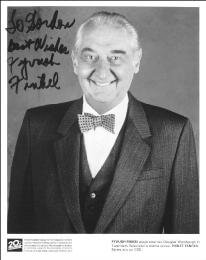 FYVUSH FINKEL - INSCRIBED PRINTED PHOTOGRAPH SIGNED IN INK