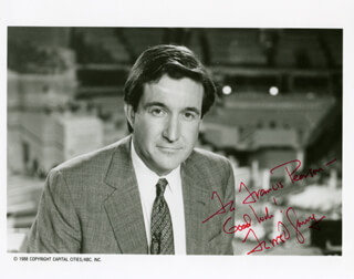 FORREST SAWYER - AUTOGRAPHED SIGNED PHOTOGRAPH