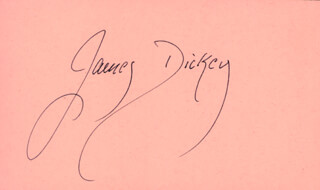 JAMES DICKEY - AUTOGRAPH