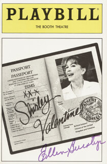 ELLEN BURSTYN - SHOW BILL SIGNED
