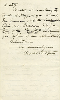SIR CHARLES G.D. ROBERTS - AUTOGRAPH LETTER SIGNED