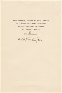 BOOTH TARKINGTON - BOOK PAGE SIGNED