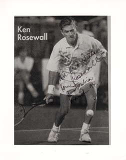 KEN ROSEWALL - AUTOGRAPHED SIGNED PHOTOGRAPH 1994