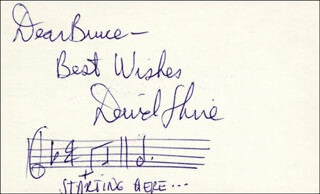 DAVID SHIRE - INSCRIBED AUTOGRAPH MUSICAL QUOTATION SIGNED