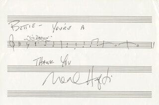 NEAL HEFTI - INSCRIBED AUTOGRAPH MUSICAL QUOTATION SIGNED