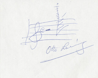 OTTO LUENING - AUTOGRAPH MUSICAL QUOTATION SIGNED