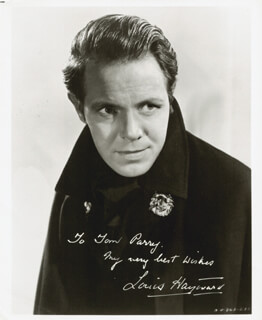 LOUIS HAYWARD - AUTOGRAPHED INSCRIBED PHOTOGRAPH