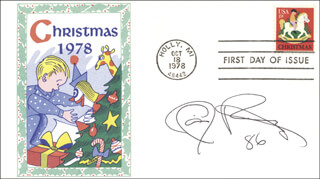 XAVIER ROBERTS - FIRST DAY COVER SIGNED 1986