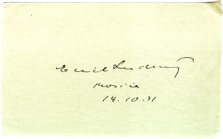 EMIL LUDWIG - AUTOGRAPH 10/14/1931