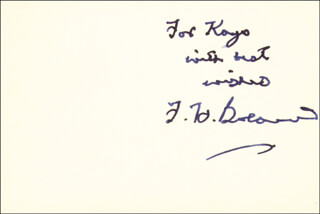 FREDERICK H. BOLAND - AUTOGRAPH NOTE SIGNED