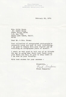 FRANK GASPARRO - TYPED LETTER SIGNED 02/29/1972