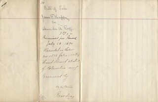 BLANCHE K. BRUCE - MANUSCRIPT DOCUMENT SIGNED 07/18/1890