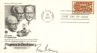 ROGER MUDD - FIRST DAY COVER SIGNED