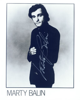 JEFFERSON AIRPLANE (MARTY BALIN) - AUTOGRAPHED SIGNED PHOTOGRAPH