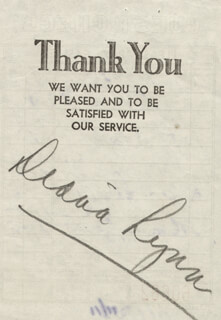 DIANA LYNN - MEAL TICKET SIGNED