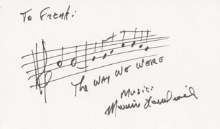 MARVIN HAMLISCH - AUTOGRAPH MUSICAL QUOTATION SIGNED