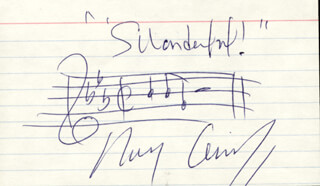 RAY CONNIFF - AUTOGRAPH MUSICAL QUOTATION SIGNED