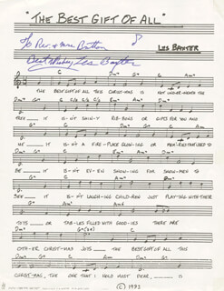 LES BAXTER - INSCRIBED SHEET MUSIC SIGNED