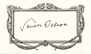 Autographs: SEVERO OCHOA - PRINTED CARD SIGNED IN INK
