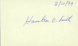 Autographs: HAMILTON O. SMITH - SIGNATURE(S) 07/10/1979