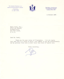 GEORGE PORTER - TYPED LETTER SIGNED 10/01/1980
