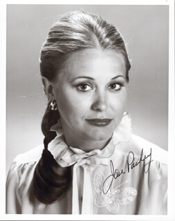 JANE PAULEY - AUTOGRAPHED SIGNED PHOTOGRAPH