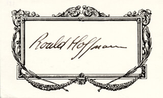 ROALD HOFFMANN - PRINTED CARD SIGNED IN INK