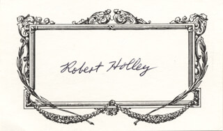 Autographs: ROBERT W. HOLLEY - PRINTED CARD SIGNED IN INK