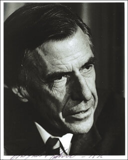 JOHN KENNETH GALBRAITH - AUTOGRAPHED SIGNED PHOTOGRAPH 1976