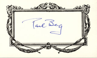Autographs: PAUL BERG - SIGNATURE(S)