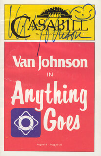 VAN JOHNSON - SHOW BILL SIGNED