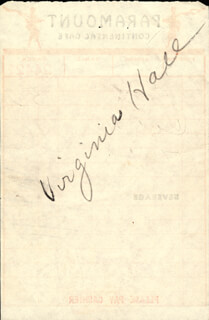 VIRGINIA HALL - MEAL TICKET SIGNED 03/14/1952
