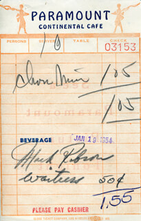 Autographs: MARK ROBSON - MEAL TICKET UNSIGNED 01/19/1954